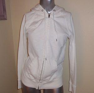White J. Crew zip up hoodie XS 100% Cotton